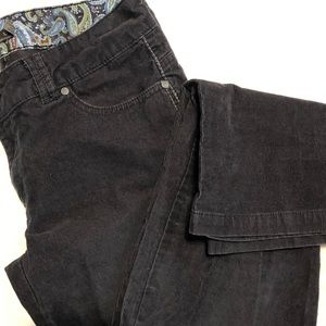 Prana Gray Cords Straight Leg Size 10